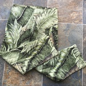 Havenbleu Fitted Pants Beaded All Over Plant Leaf